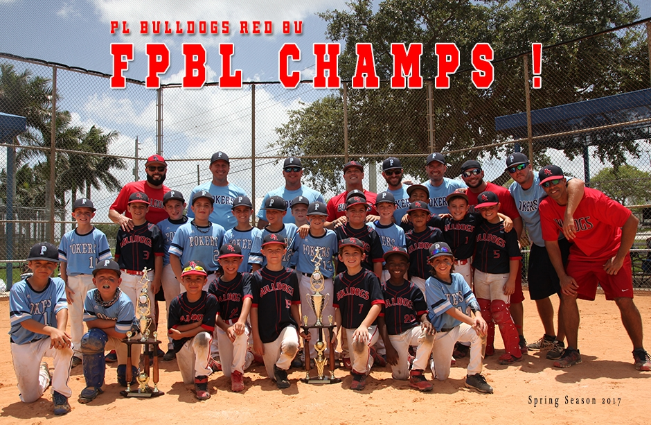 PL Bulldogs Defeats Parkland Pokers 8u to Win Back 2 Back Championships